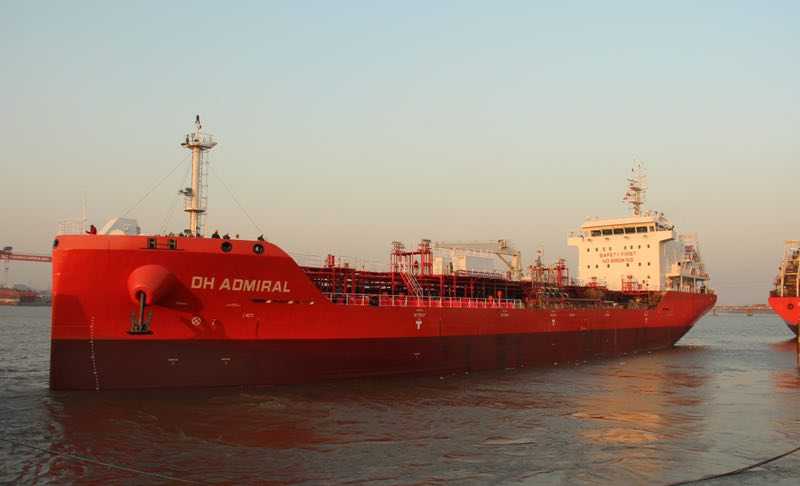 Successful sea trial of 8500DWT Stainless steel Chemical Tanker