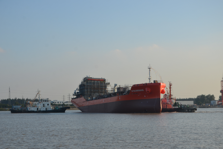 The successful launching of one (1) unit of 8500DWT Stainless steel Chemical Tanker